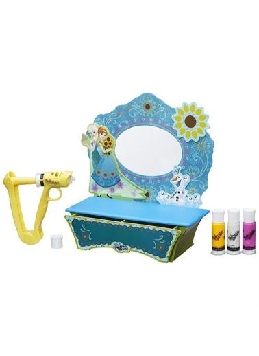 Hasbro LİSANSLI - Doh Vinci Frozen Makyaj Masası Tasarım Seti B5512 Renkli